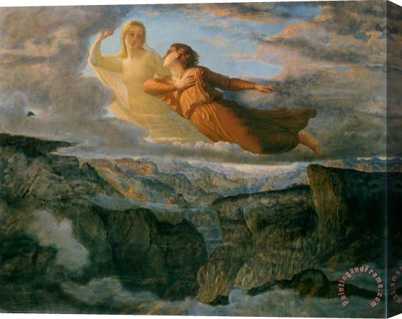 Anne Francois Louis Janmot The Poem of The Soul The Ideal Stretched Canvas Print / Canvas Art