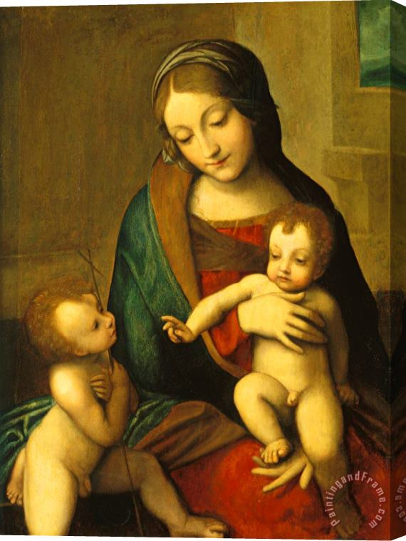 Antonio Allegri Correggio Madonna And Child With The Infant Saint John Stretched Canvas Print / Canvas Art