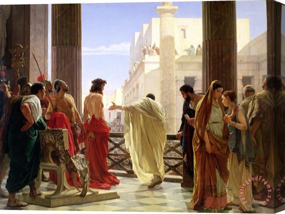 Antonio Ciseri Ecce Homo Stretched Canvas Print / Canvas Art