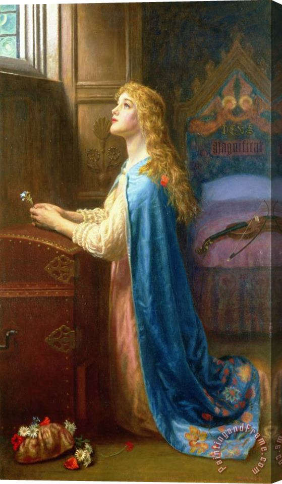 Arthur Hughes 'Forget me Not' Stretched Canvas Print / Canvas Art