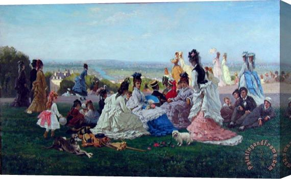 August Foulhause Sunday Afternoon Stretched Canvas Print / Canvas Art
