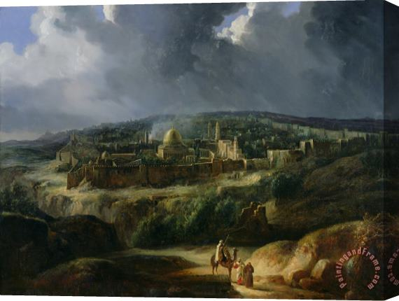Auguste Forbin View of Jerusalem from the Valley of Jehoshaphat Stretched Canvas Print / Canvas Art