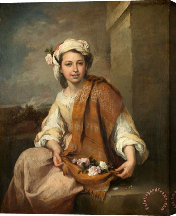 Bartolome Esteban Murillo The Flower Girl Stretched Canvas Print / Canvas Art