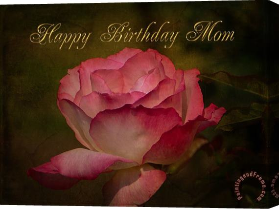 Blair Wainman Happy Birthday Mom Stretched Canvas Print / Canvas Art