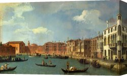 Santa Canvas Prints - View of the Canal of Santa Chiara by Canaletto