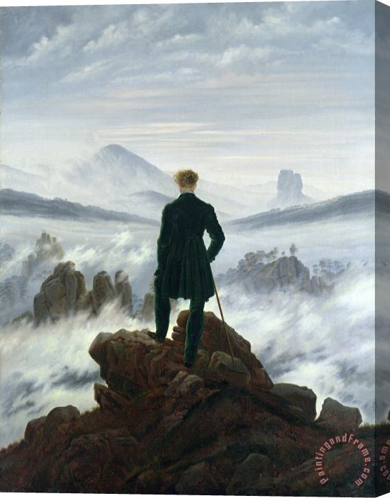 Caspar David Friedrich The Wanderer above the Sea of Fog Stretched Canvas Print / Canvas Art