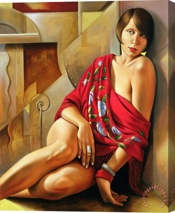 Catherine Abel Autumn Ruby Stretched Canvas Painting / Canvas Art