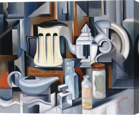Catherine Abel Still Life with Teapots Stretched Canvas Print / Canvas Art