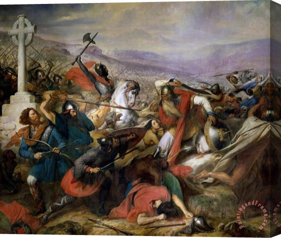 Charles Auguste Steuben The Battle of Poitiers Stretched Canvas Print / Canvas Art