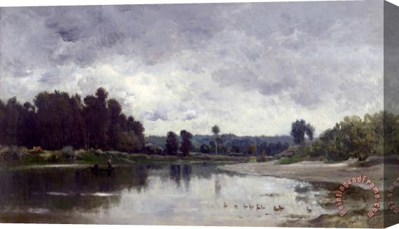 Charles Francois Daubigny Bords De Riviere Stretched Canvas Print / Canvas Art