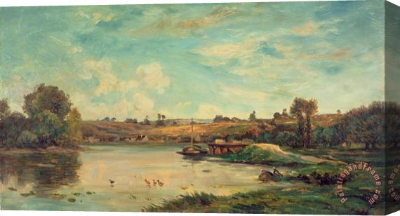 Charles Francois Daubigny On the Loire Stretched Canvas Print / Canvas Art