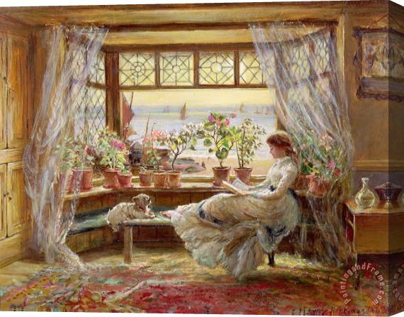 Charles James Lewis Reading by the Window Stretched Canvas Print / Canvas Art
