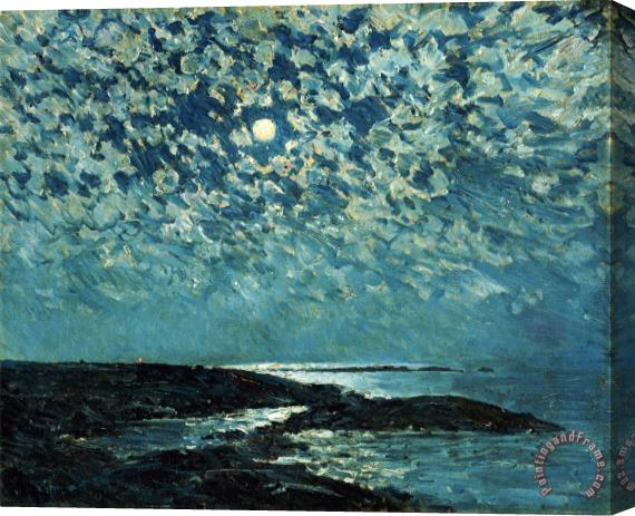 Childe Hassam Moonlight Isle of Shoals 1892 Stretched Canvas Print / Canvas Art