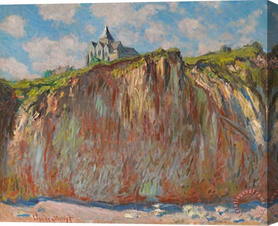 Claude Monet Church at Varengeville Morning Effect Stretched Canvas Print / Canvas Art