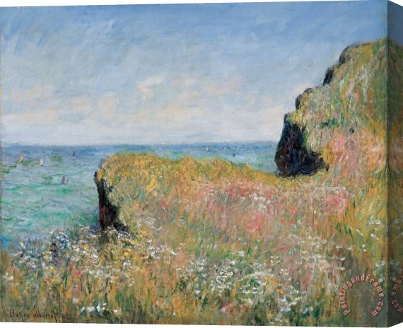Claude Monet Edge of the Cliff Pourville Stretched Canvas Print / Canvas Art