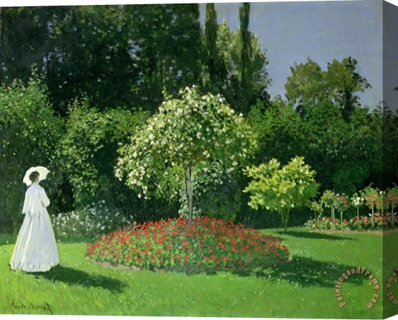 Claude Monet Jeanne Marie Lecadre in the Garden Stretched Canvas Painting / Canvas Art