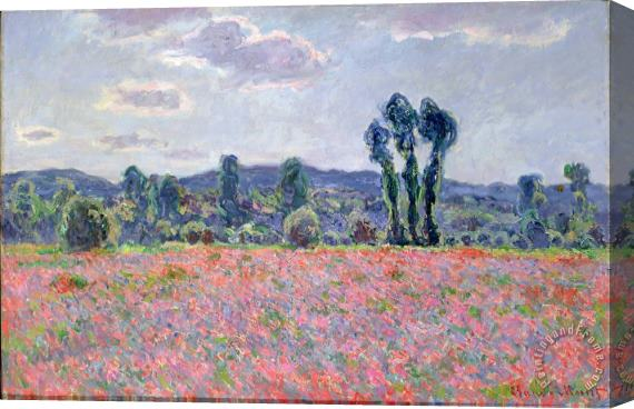 Claude Monet Poppy Field Stretched Canvas Painting / Canvas Art