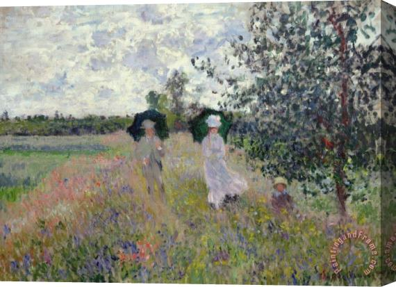 Claude Monet Promenade near Argenteuil Stretched Canvas Print / Canvas Art