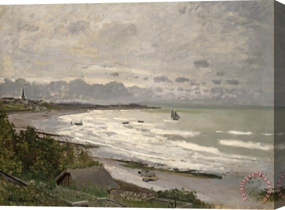 Claude Monet The Beach at Sainte Adresse Stretched Canvas Print / Canvas Art