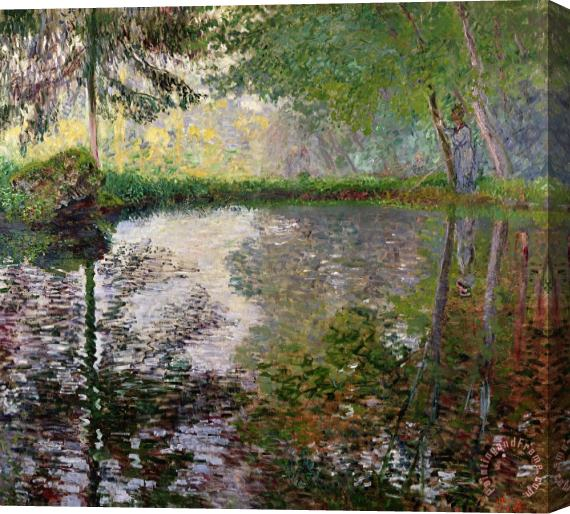 Claude Monet The Lake at Montgeron Stretched Canvas Print / Canvas Art
