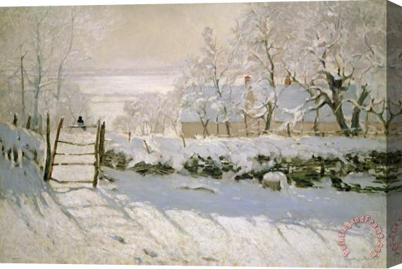 Claude Monet The Magpie Stretched Canvas Print / Canvas Art