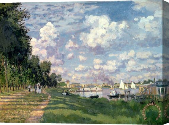 Claude Monet The Marina at Argenteuil Stretched Canvas Print / Canvas Art