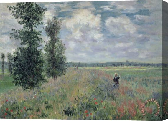 Claude Monet The Poppy Field Stretched Canvas Painting / Canvas Art