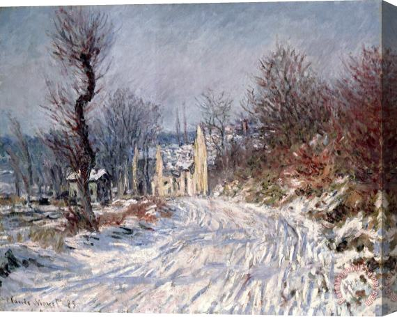 Claude Monet The Road to Giverny in Winter Stretched Canvas Print / Canvas Art