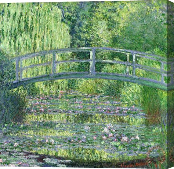 Claude Monet The Waterlily Pond Stretched Canvas Print / Canvas Art