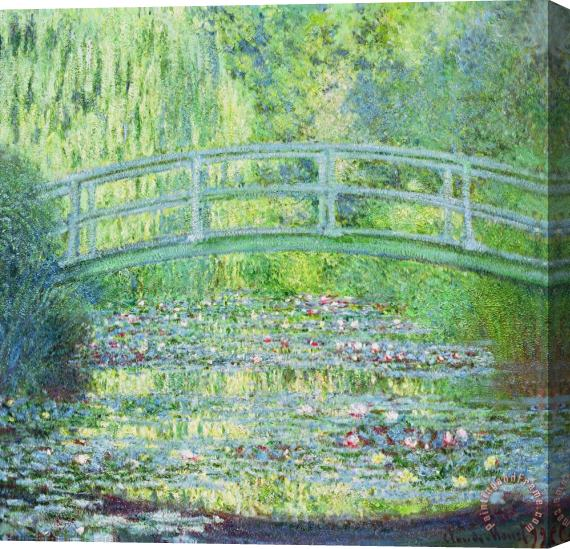 Claude Monet The Waterlily Pond with the Japanese Bridge Stretched Canvas Print / Canvas Art