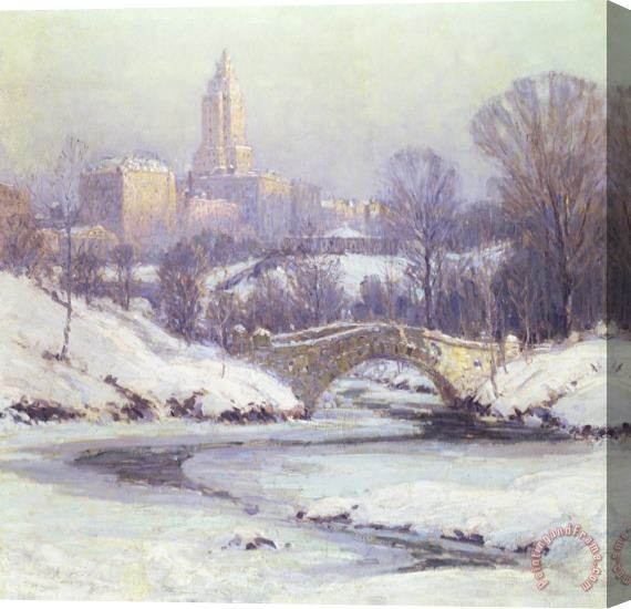 Colin Campbell Cooper Central Park Stretched Canvas Print / Canvas Art