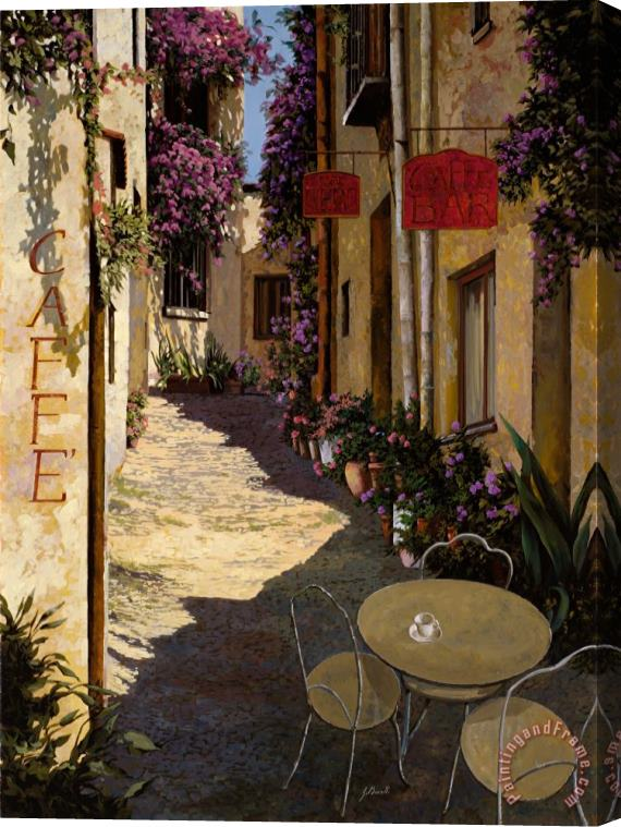 Collection 7 Cafe Piccolo Stretched Canvas Print / Canvas Art