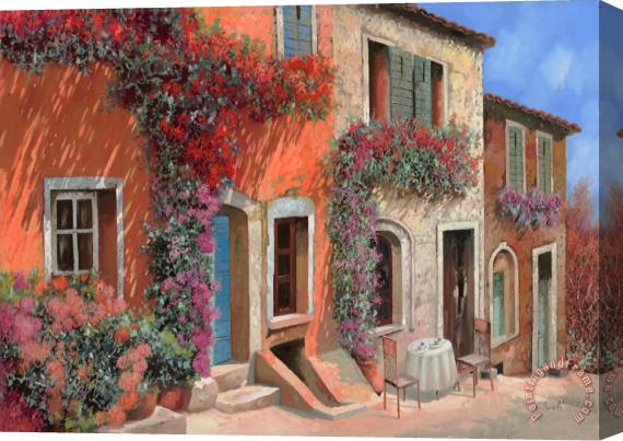 Collection 7 Caffe Sulla Discesa Stretched Canvas Print / Canvas Art