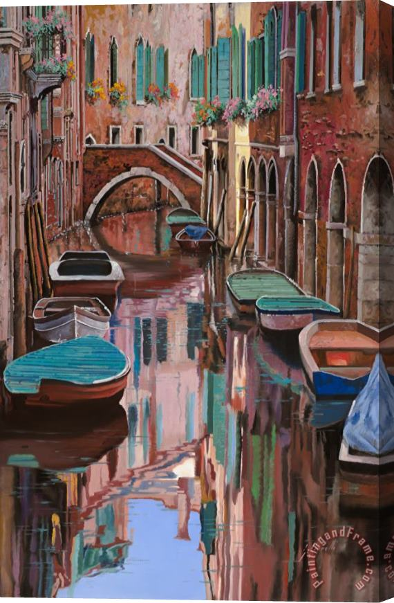 Collection 7 Venezia a colori Stretched Canvas Print / Canvas Art