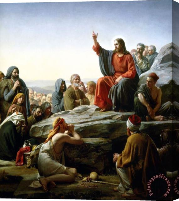 Collection Carl Bloch The Sermon on The Mount Stretched Canvas Print / Canvas Art