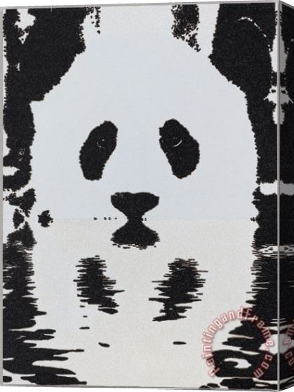 Collection Panda Stretched Canvas Painting / Canvas Art