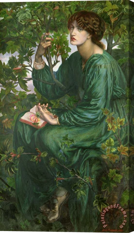 Dante Charles Gabriel Rossetti Day Dream Stretched Canvas Print / Canvas Art