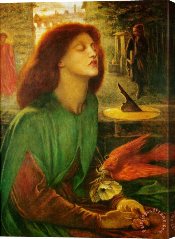 Dante Gabriel Rossetti Blessed Beatrice Stretched Canvas Print / Canvas Art