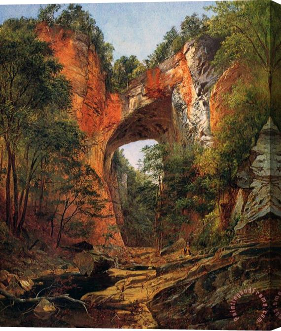 David Johnson A Natural Bridge in Virginia Stretched Canvas Print / Canvas Art