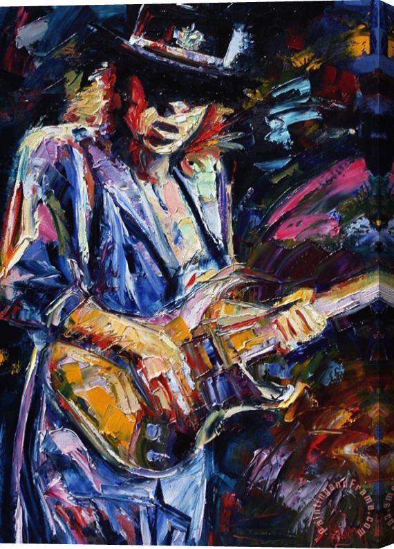 Debra Hurd Stevie Ray Vaughan Stretched Canvas Print / Canvas Art