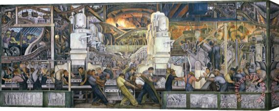 Diego Rivera Detroit Industry   North Wall Stretched Canvas Print / Canvas Art
