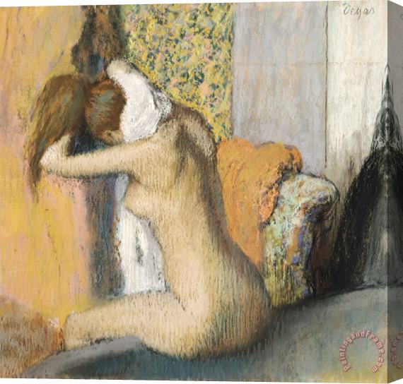 Edgar Degas After the Bath Stretched Canvas Print / Canvas Art