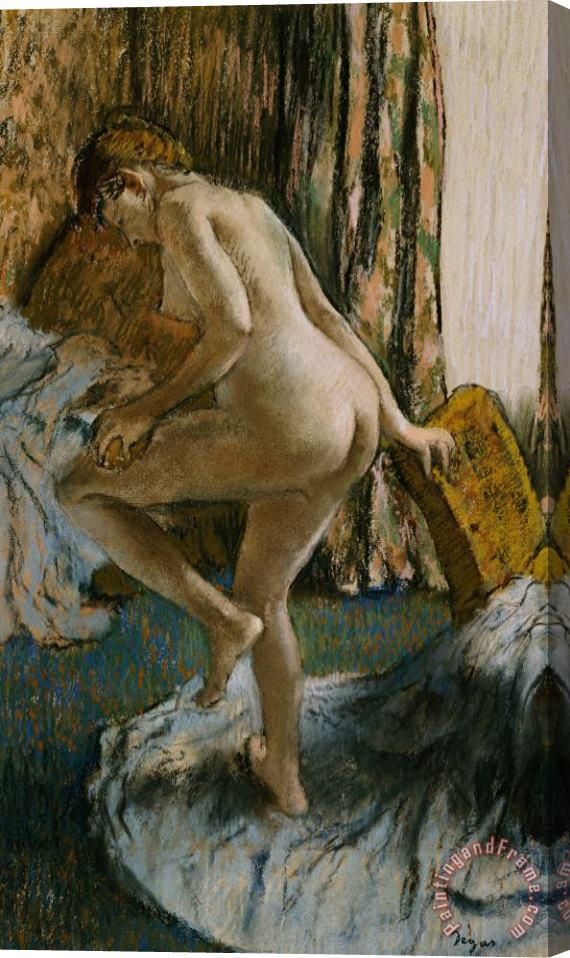 Edgar Degas After the Bath Stretched Canvas Painting / Canvas Art