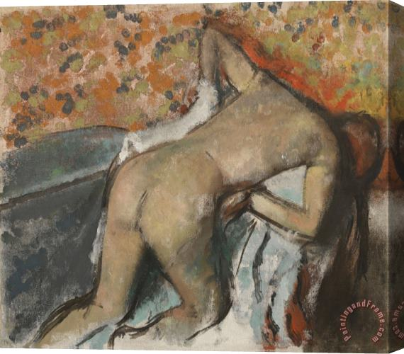 Edgar Degas After The Bath, Woman Drying Herself (apres Le Bain, Femme S'essuyant) Stretched Canvas Print / Canvas Art