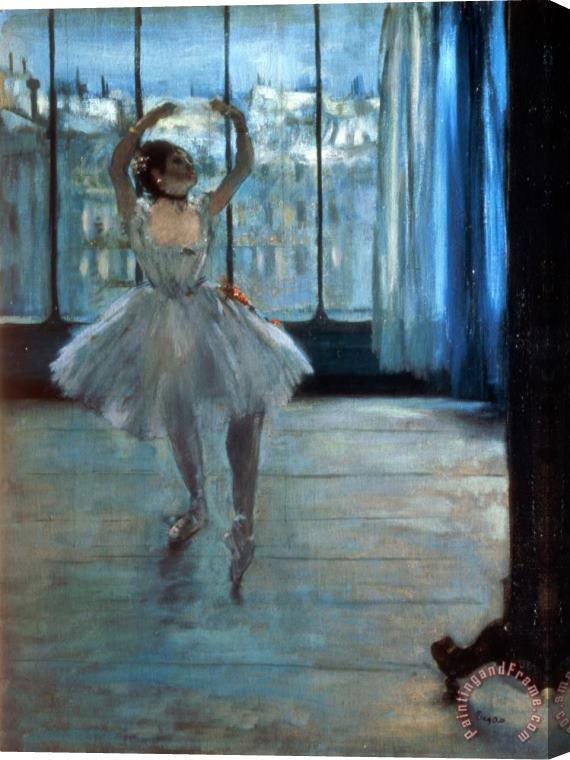 Edgar Degas Dancer in Front of a Window Stretched Canvas Print / Canvas Art