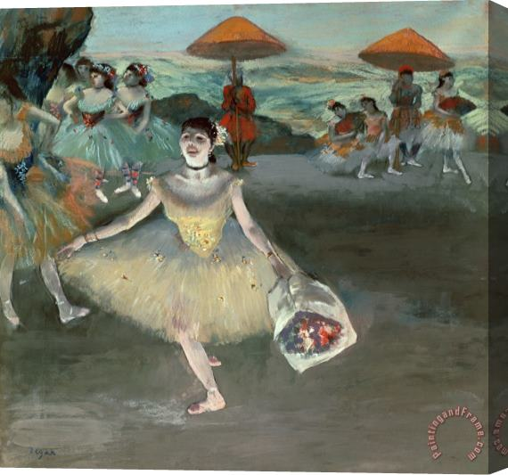 Edgar Degas Dancer with Bouquet, Curtseying Stretched Canvas Painting / Canvas Art