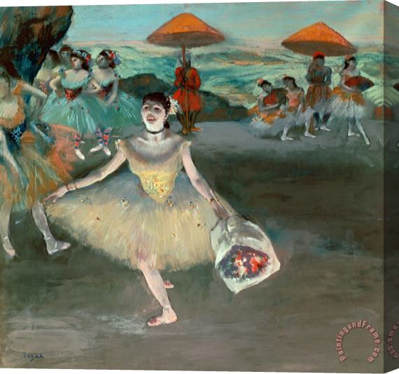 Edgar Degas Dancer with Bouquet Stretched Canvas Print / Canvas Art