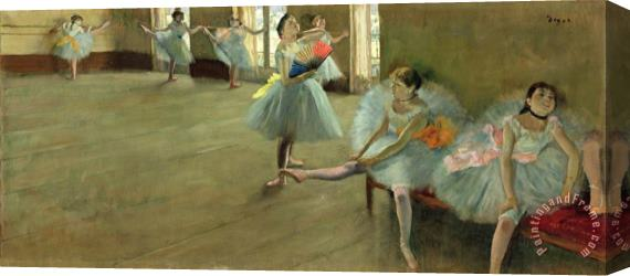 Edgar Degas Dancers in the Classroom Stretched Canvas Print / Canvas Art