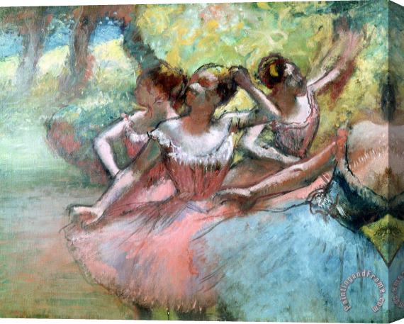 Edgar Degas Four ballerinas on the stage Stretched Canvas Print / Canvas Art