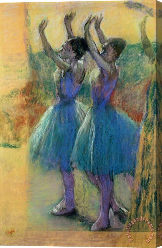 Edgar Degas Two Blue Dancers Stretched Canvas Print / Canvas Art
